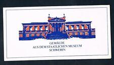 DDR 2726-31, Gedenkblatt Museum Schwerin 1982, selten RARE