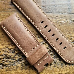 Panerai Leather Calf Brown Watch Band / Strap (24mm) - OEM - Luminor, Radiomir