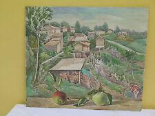 QUADRO ANTICO DIPINTO FIRMATO PAESAGGIO DI CAMPAGNA Antique painting landscape