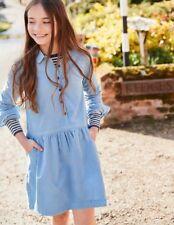 Boden Johnnie B Camicia Blu Dress Età 7-8 anni DH171 GG 12