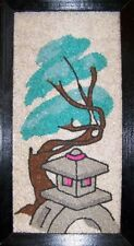 Vintage 1962 Mid Century Gravel ART MOSETTE Crushed Marble Mosaic Pagoda Picture