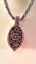 """LOIS HILL sterling silver necklace with  locket pendant 16"""" L indonesia"""