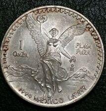 1994 Mexico 1 Oz Onza .999 Fine Silver Libertad Mintage 400K Liberty Rare Coin