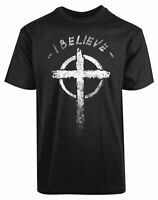 I Believe Jesus Christ Cross Christianity New Men's Shirt Religious Prayers Tee
