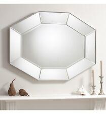 "Ortega Wide Octagonal Mirror Panel Frame Feature Wall Venetian Mirror 48"" x 36"""