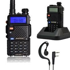 BaoFeng UV-5R VHF/UHF 136-174/400-520MHz Two-way Walkie Talkie Radio + Earpiece