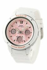 Casio Baby-G Womens Wrist Watch BGA150F-7A  BGA-150F-7A Pink White Analog-Digit