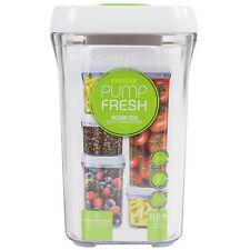 Pump Fresh 1 Litre Vacuum Lid Food Storage Container Canister Jar Box Tea Coffee
