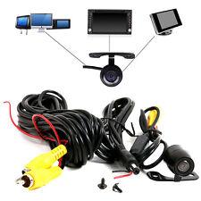 170° 12V  Mini Color CCD Reverse Backup Car Rear View Camera Night Vision Black