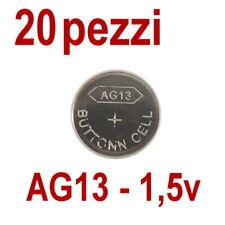 20 PILE AG13 LR 44 357A 1,55V BATTERIA BOTTONE PILA BATTERIE PIATTA (non 10)