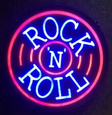 "New Rock N Roll Beer Pub Bar Store Restaurant Real Glass Neon Sign 16""x16"" PU67S"