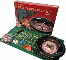 30cm Deluxe Bakelite Roulette Set with Metal Wheel - Ref: 00613