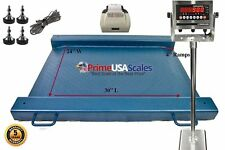 24 X 30 Floor Scale Drum Scale Indicator 1500 Lb Legal For Trade Printer
