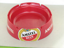 Amstel beer ashtray for 6 cigarettes red large big ised rare plastic Italy