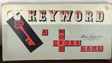 Keyword : A Crossword Game (copyright 1953) Parker Brothers, Inc.