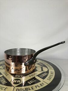 Vintage Mauviel Hammered Copper Sauce Pan Cookware 3 Qt Made In France CLEAN