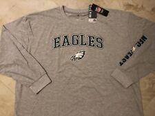 Philadelphia Eagles Long Sleeve T-Shirt 5XL Specialty Double Logos Plus Size NFL