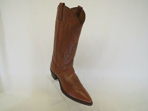 Dan Post Brown All Leather Western Cowboy Boots Womens Size 10 M