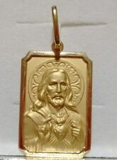 18k Gold Pendant Heart of Jesus Medal Large, 4.1 grams - Perfect image