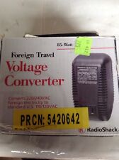 Foreign Travel Voltage Converter RadioShack 85-Watt