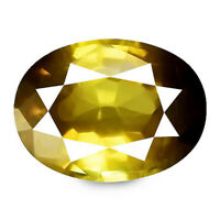 Unheated Sapphire 2.54ct greenish yellow color 100%natural earth mined Sri Lanka