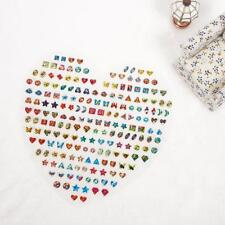 1 Sheet Kid Girl Crystal Stick Earring Sticker Toy Body Bag Party Jewelry