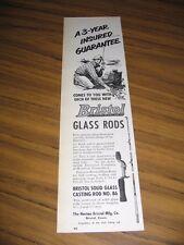 1951 Print Ad Bristol Glass Fishing Rods No. 86 Horton Bristol,CT