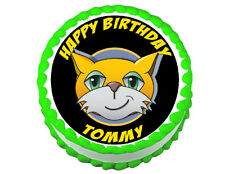 Stampy Cat party decoration round edible party cake topper cake image