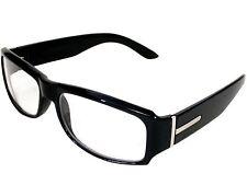 Fake Nerd Glasses Square Euro Geek Sunglasses Black Clear Lens