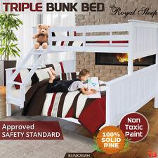 Royal Sleep EB-BUNK26WH New Zealand Pine Bunk Bed- White