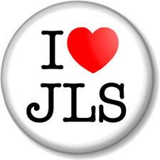 "I Love / Heart JLS 25mm 1"" Pin Button Badge Jack The Lad Swing Boy Band Pop R&B"