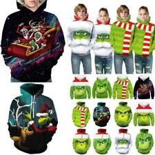 The Grinch Ugly Hoodie Xmas 3D Kids Men Women Casual Hooded Christmas Sweatshirt