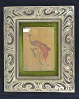Vintage Bird Prints Framed Pictures Gold Frame With Velvet Backing