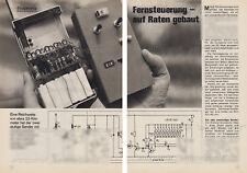 Bauanleitung RC Fernsteuerung Funkfernsteuerung - Original von 1971
