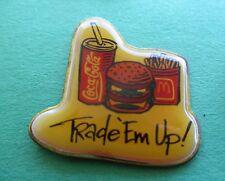 Trade 'Em Up! (Hamburger French Fries and Coke) McDonald's Lapel Pin