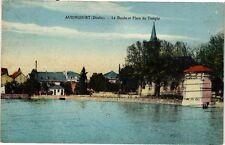CPA  Audincourt (Doubs) - Le Doubs et Place du Temple    (183179)