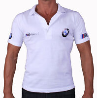 BMW M POWER Collier T-shirt Polo Feuille De Stickers Blancs Logo Homme M3 M4 M5