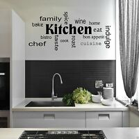 Kitchen Words Phrases Wall Sticker Quote Decal Stencil Transfer Decor WSD442
