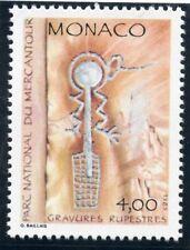 TIMBRE DE MONACO N° 1667 ** INSCRIPTION RUPESTRE / LE PANTIN