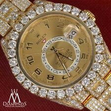 Sky Dweller 18k Gold Diamond Band Champagne Roman Numeral Dial 326938 Watch