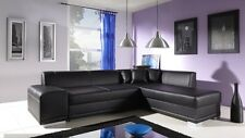 new catania faux leather corner sofa z funkcja spania bed storage black
