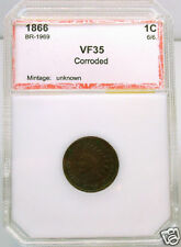 1866 HOLDERED VF RPD S-2 (FS-007.7) - INDIAN CENT