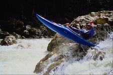 599072 Canoeist Shaun Baker Jumping A Rock Lofer Austria A4 Photo Print