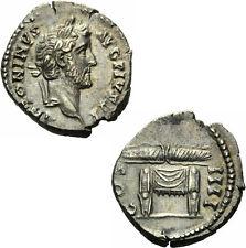 Antoninus Pius Denar Rom 145-161 Blitzbündel Pulvinar Jupiter Junos RIC 137