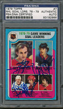 1979/80 Topps #007 NHL Goal Leaders Game PSA/DNA Certified Authentic Auto *2986