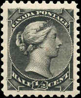 1882 Mint Canada VF Scott #34 1/2c Small Queen Issue Stamp Never Hinged