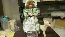 Vintage Ashton Drake Galleries Doll-Little Bo Peep with Sheep-Wendy Lawton
