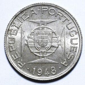 [Lot 845] Coin, Portuguese Timor, 50 Avos, 1948, UNC, Silver, KM# 7