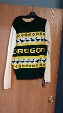 Oregon Ducks NCAA Wordmark Ugly Sweater Adult L NWT