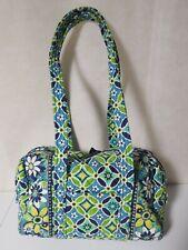Vera Bradley Hanna Daisy Barrel Purse Bag Blue Green